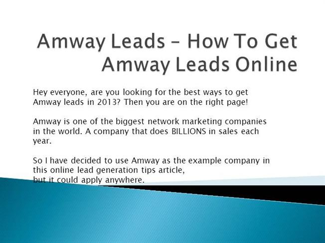 presentation on amway business plan