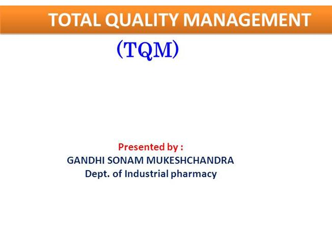 tqm notes for mba student