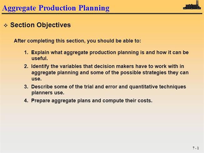 What Are the Strategic Objectives of Aggregate Planning?