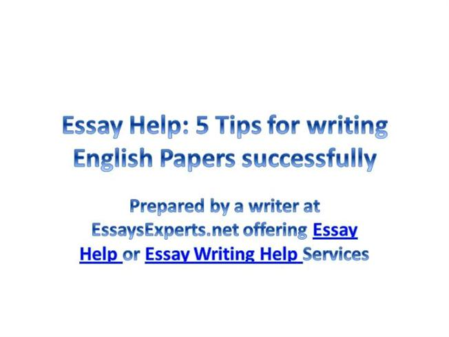 BENEFITS OF ENGLISH ESSAY WRITING HELP