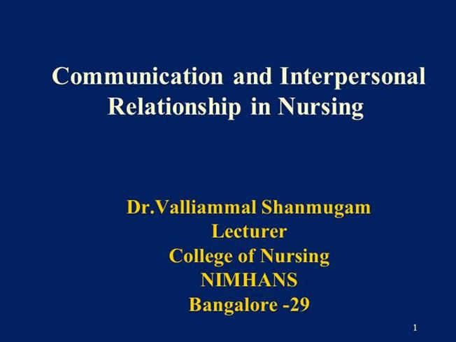 a report on interpersonal communication