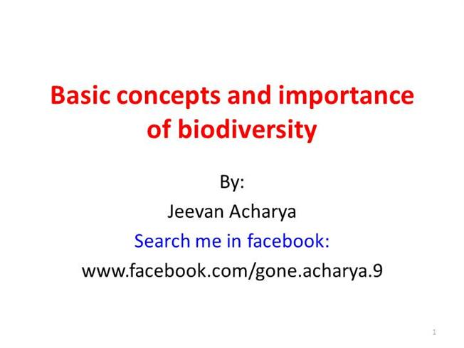 an analysis of the concept of biodiversity Biodiversity or biological diversity is a term that describes the variety of living beings on earth biological diversity encompasses microorganism, plants, animals.