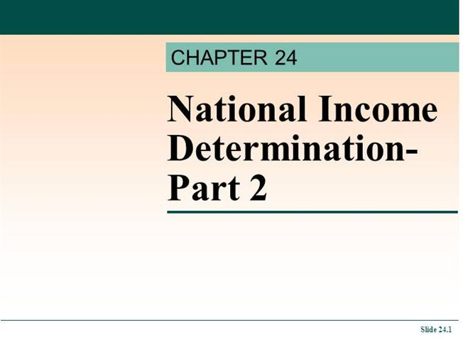 tutorial on national income determination