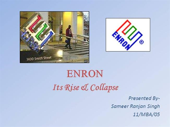 external causes for enron to collapse essay