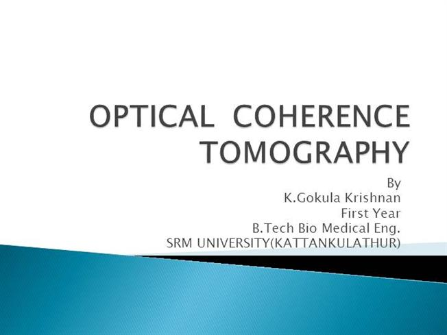 Optical coherence tomography thesis