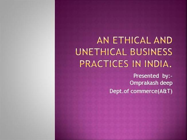 unethical business research practices articles