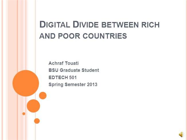 the divide between developed and developing Poverty and the digital divide in developing nations is there a digital divide between students living in poverty in developed and developing nations with respect.