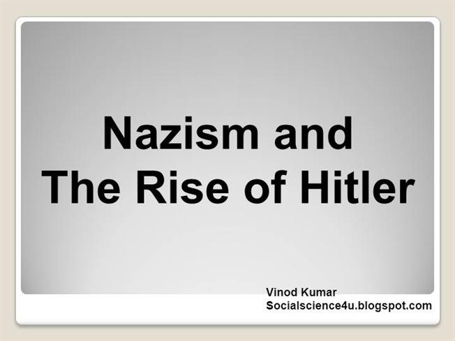 factors of the rise of nazism
