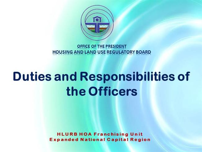 7 duties and responsibilities of the officers