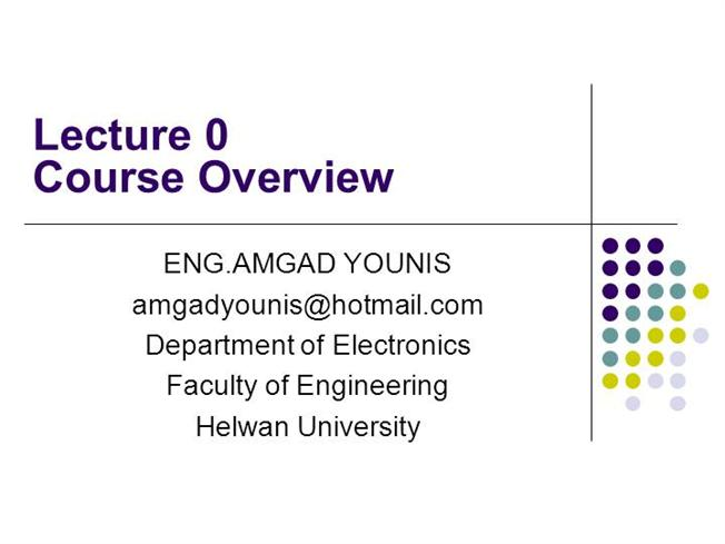 VLSI -Course Overview Lecture00 |authorSTREAM