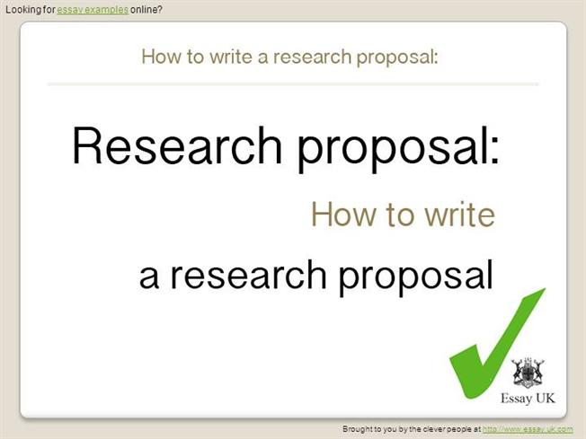 Sample Thesis Proposal Examples