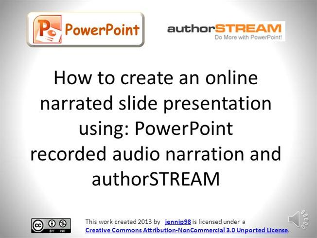 Record a slide show with narration and slide timings