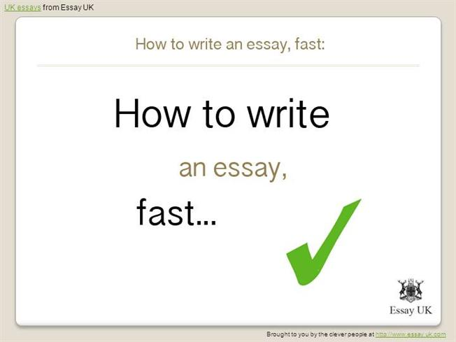 How long does it take to write an essay