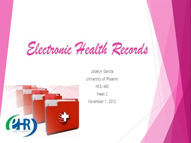 hcs 483 electronic health records presentation