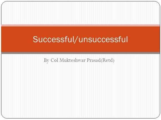 successful and unsuccessful leadership