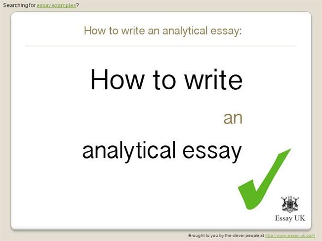 write analytical essays We offer a wide variety of writing services including essays, research papers, te  writing analytical essays  how to write literature review.