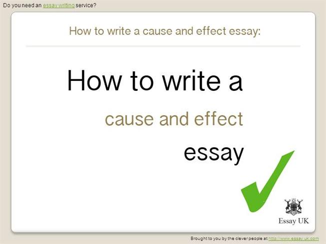 cause and effect essay writing powerpoint Writing cause and effect essays cristina maldonado for the writing center roxbury community college what is a cause and effect essay a cause and effect essay provides reasons and explanations for events, conditions, or behaviors.