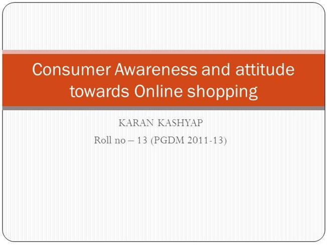 attitude of indian consumers towards online