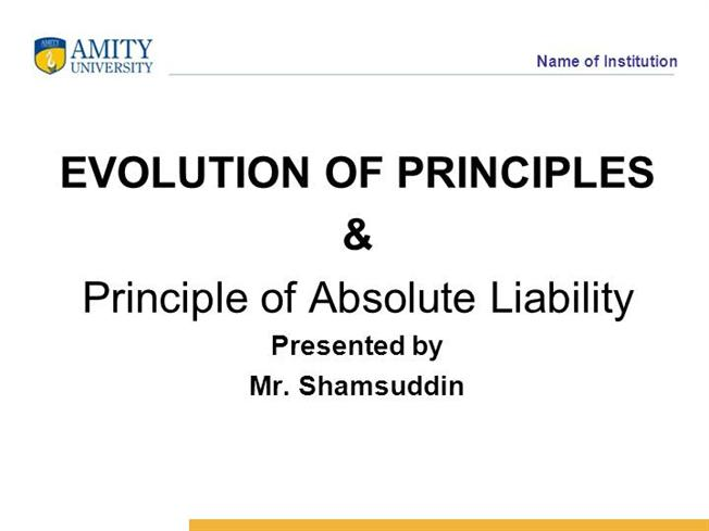 absolute liability in torts in india Sources of law tort law in india tort liability for environment claims absolute liability is a standard of legal liability found in tort and criminal law of.