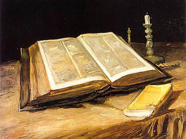 Still Life with Bible Vincent Van Gogh China Wholesale Oil Painting Wholesale China Oil Painting 01939