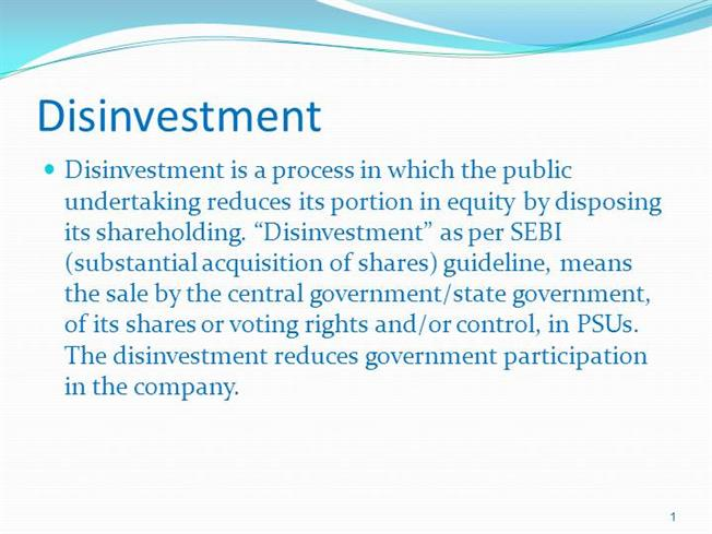essay on objective of disinvestment policy Review of disinvestment policy in india research papers disinvestment of public sector in india she argued that the objective of disinvestment.