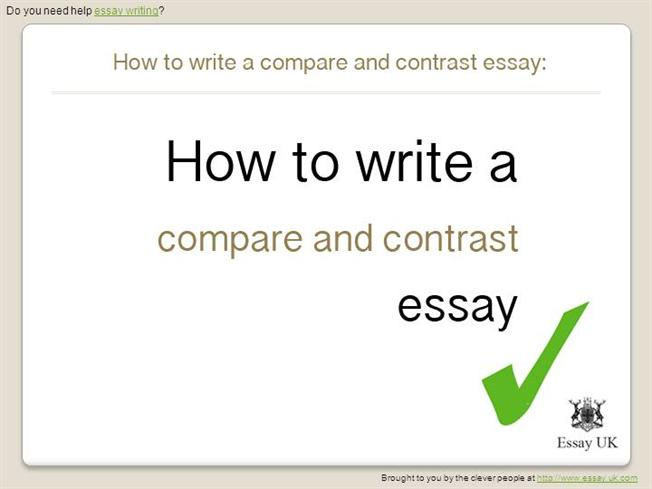 how to write an essay workintown - Compare And Contrast Essays Examples