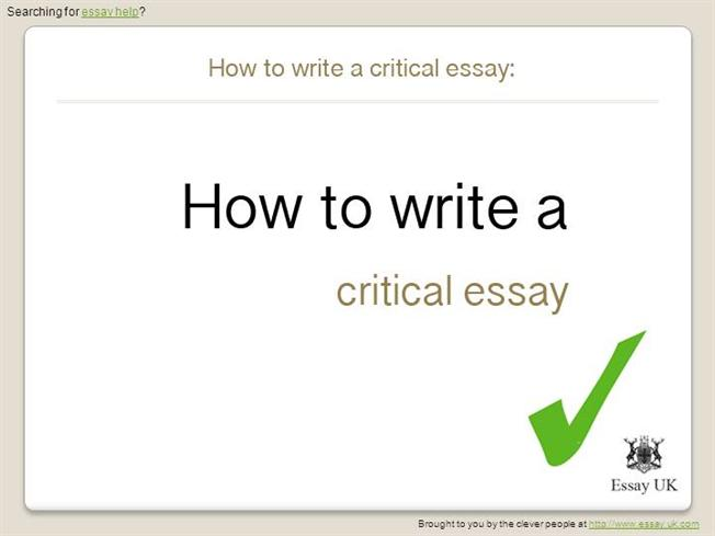 What Is A Critical Review Essay