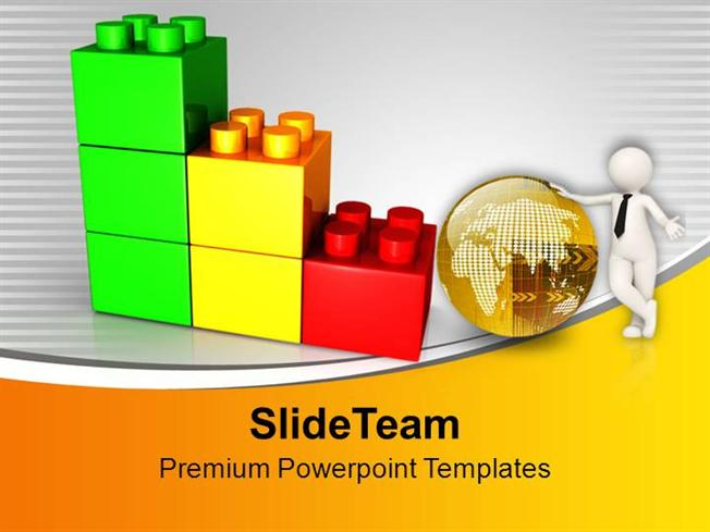 man with golden globe lego blocks powerpoint templates ppt themes authorstream. Black Bedroom Furniture Sets. Home Design Ideas