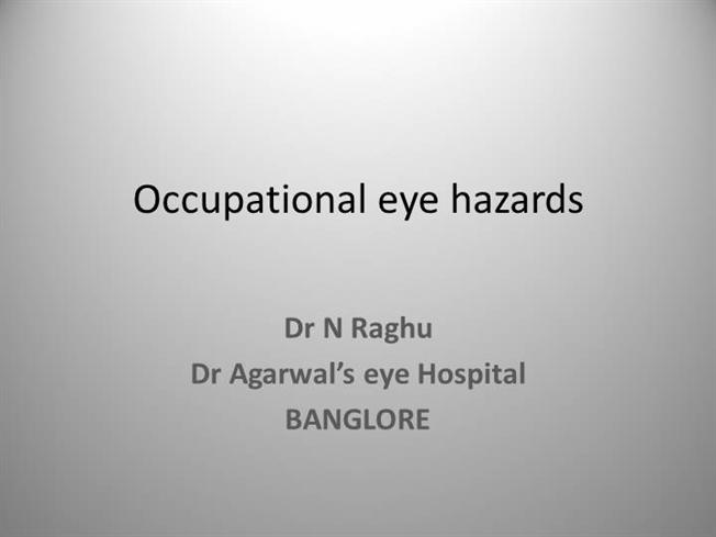 occupation eye injuries Basic guide to compensation for occupational injuries and diseases based on legislation in section 56, of the compensation for occupational injuries and diseases.