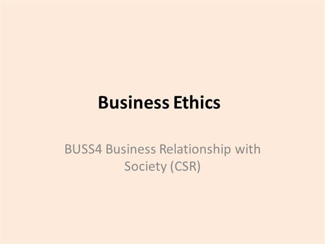 business ethics and society pdf