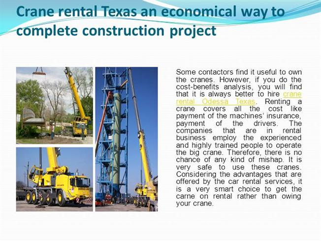 the advantages of hiring a crane What does a crawler crane do posted on march 5, 2014 by millie jones the cranes are very important machines used in various industries like: construction.