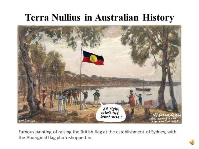 terra nullius Terra nullius is a latin term that means land belonging to no one or no man's  land in international law, a territory which has never been subject to the.