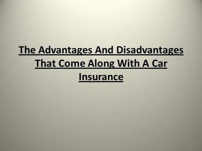 advantages and disadvantages of insurance pdf