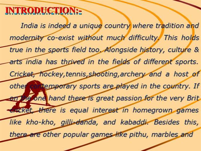 essay on sports and games in india