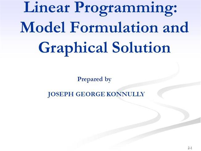 what are the essential characteristics of a linear programming model Linear program structure linear programming models consist of an objective function and the constraints on that function a linear programming model takes the.
