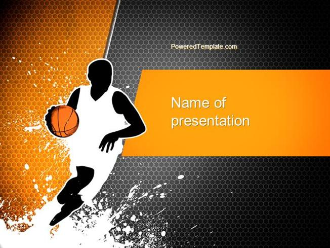 basketball man powerpoint template authorstream