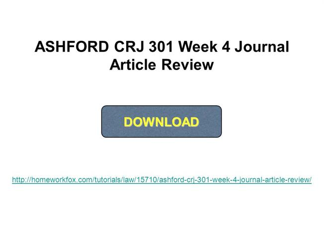 journal article review week 4 Week 4 course meetings wednesday,  journal articles,  once you've made improvements to your article based on peer review feedback, .