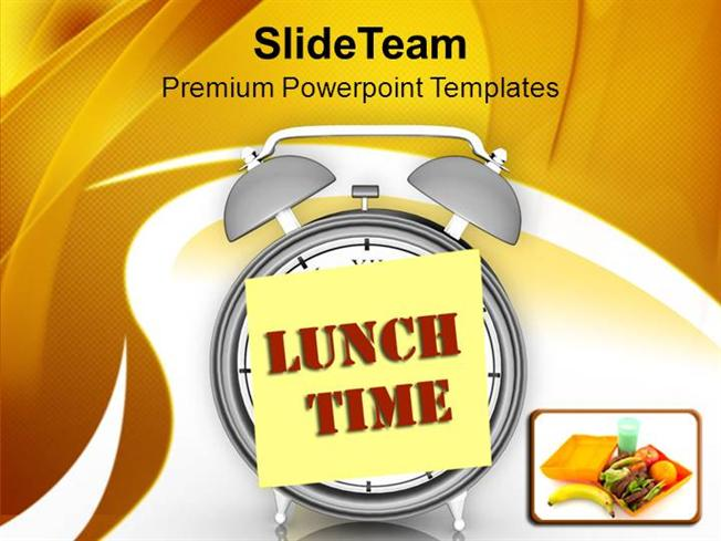 fix the lunch time for employee powerpoint templates ppt