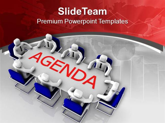 solve the agenda in team meeting powerpoint templates ppt