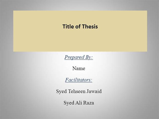 thesis powerpoint presentation format