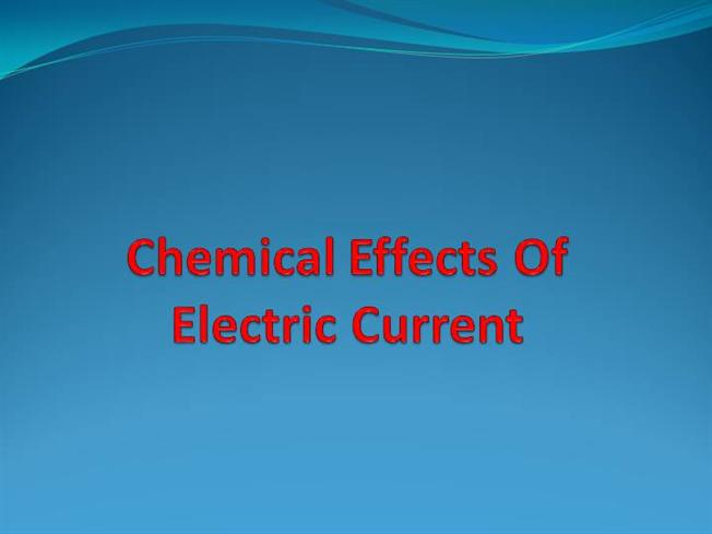 chemical effects of electric currents An electric current is the flow of electric charge in electric circuits this charge is  often carried by moving electrons, in a wire it is either dc or ac.