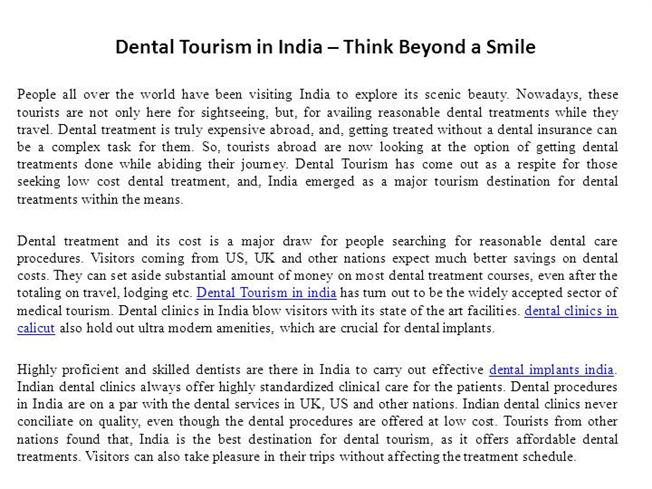 dental tourism in india think Tourism dental india, new delhi, india 336 likes 1 talking about this dental tourism in india for dental treatments at a very affordable price.