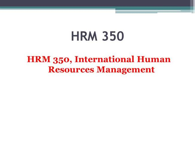 hrm 350 company review of strategic alignment