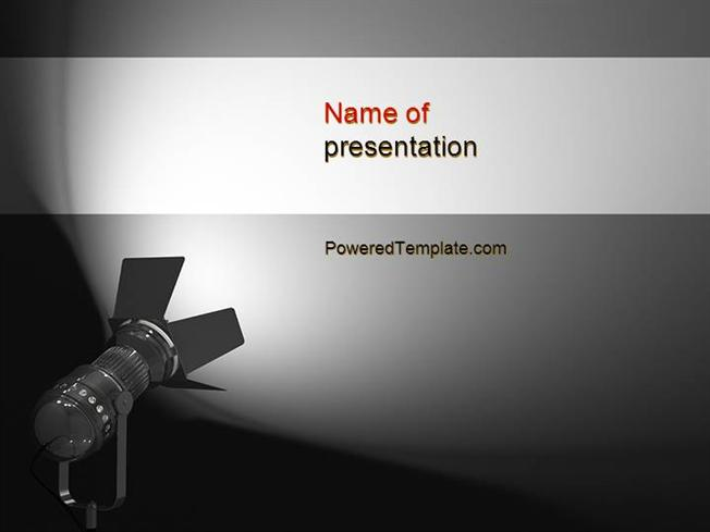 spotlight powerpoint template by poweredtemplate com