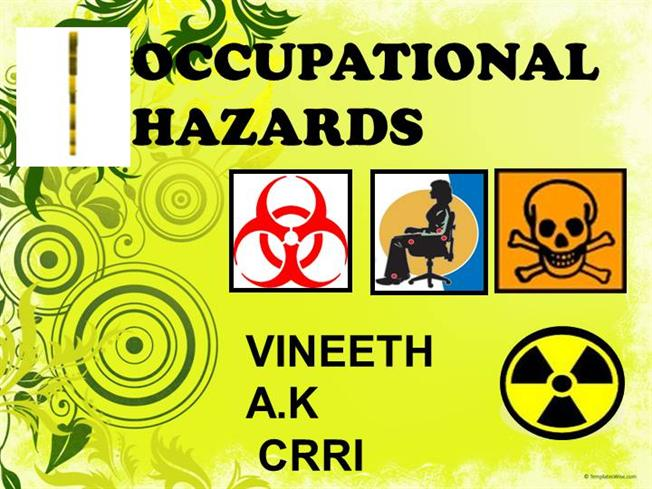 occupational hazards This guide was created to help make the legal language of the occupational   we hope the combination of the osha standards with photos of hazards will help .