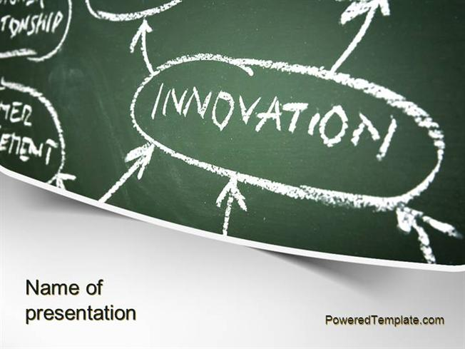 innovation mind map powerpoint template by poweredtemplate