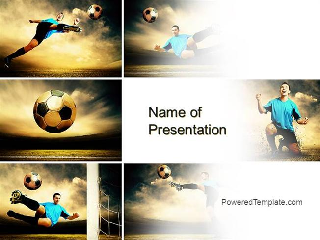 soccer collage powerpoint template by poweredtemplatecom