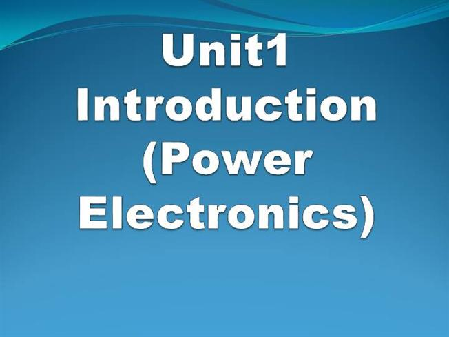 introduction to power electronics Introduction to power electronics power electronics impacts our lives in so many ways - from new power circuits that extend battery life to voltage regulators that help manage and distribute energy more efficiently from the grid to the consumer.