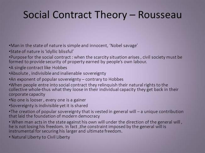 rousseaus social contract Rousseaus principal aim in writing the social contract is to determine how freedom may be possible in civil society in the state of nature we.