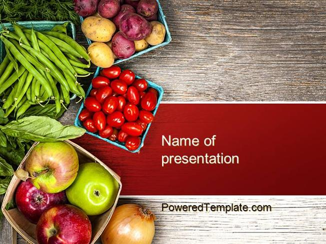 fruit and veg powerpoint template by poweredtemplate com authorstream. Black Bedroom Furniture Sets. Home Design Ideas